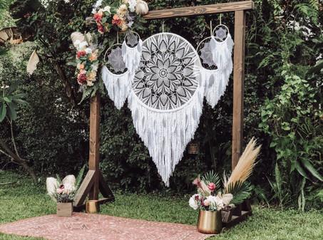 Dreamcatcher Backdrop + Wedding Arch