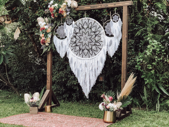 Dreamcatcher Backdrop + Wedding Arch