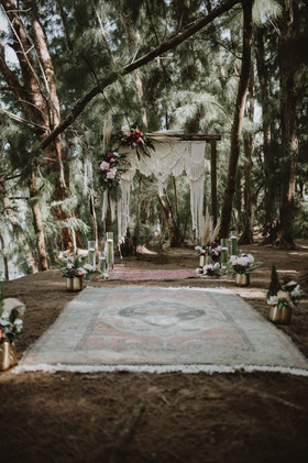 Macrame Backdrop + Wedding Arch