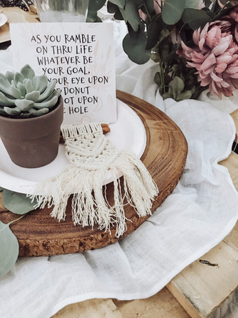 Mini Macrame Tea Party Favors