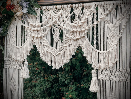 Handmade Macrame Backdrop