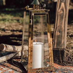 Gold Boho Lantern