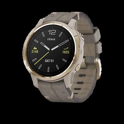 fēnix 6S Gold Tone avec bracelet en Daim gris