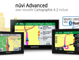 Nouveaux GPS Auto Garmin nüvi Advanced, Carto 4.2 et Mains libres de Série.