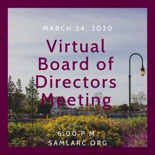 Virtual Board of Directors Meeting: March 23, 2021