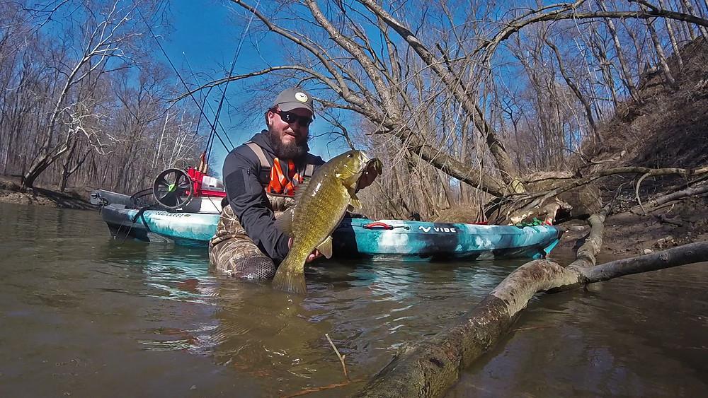 Indiana kayak angler Adam Debard