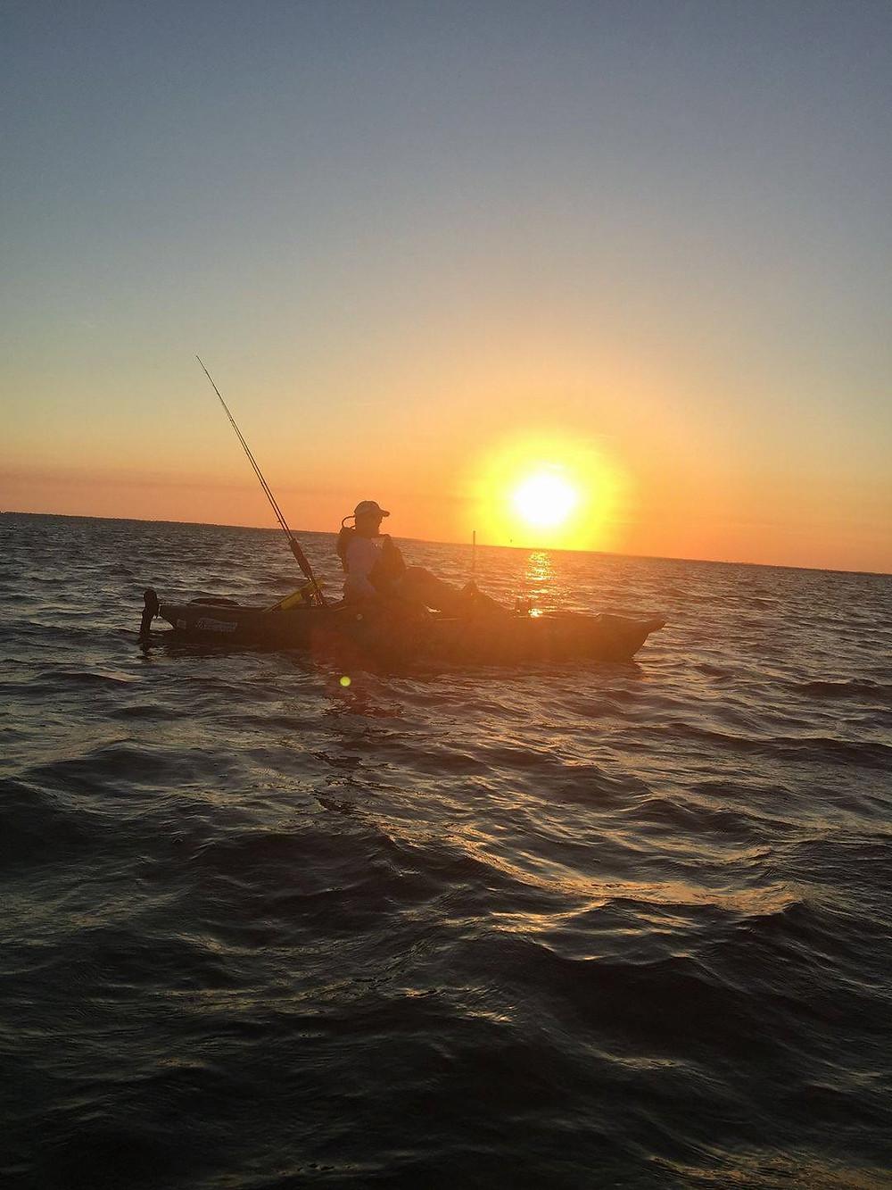 Kayak Bass Angler and River Town Outiftters manager Faron Davidson