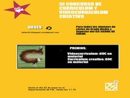 III Concurso de Curriculum y Videocurriculum Creativo