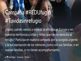 #Tuvidasinrefugio: Campaña por el #REDUfugio de niñas y niños como tú