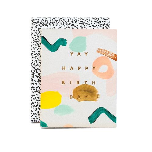 Tarjeta de Cumpleaños - YAY
