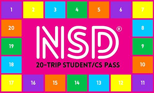 NSD 20-Trip Flexi Pass (Student/CS)