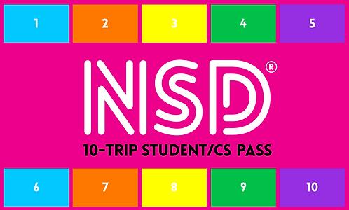 NSD 10-Trip Flexi Pass (Student/CS)
