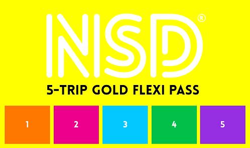 NSD 5-Trip Flexi Pass (Gold)