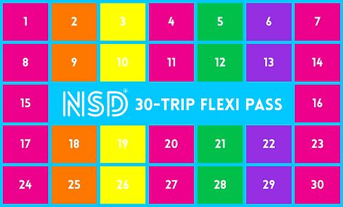 NSD 30-Trip Flexi Pass ($10.66 per class)