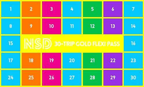 NSD 30-Trip Flexi Pass (Gold)