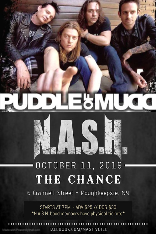 N.A.S.H. with Puddle of Mudd Ticket