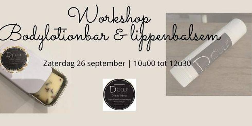 Workshop bodylotionbar & lippenbalsem