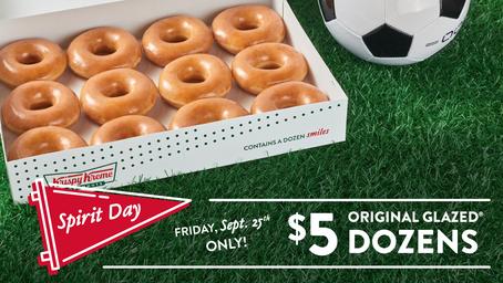 $5 Original Glazed Dozens at Krispy Kreme on September 25