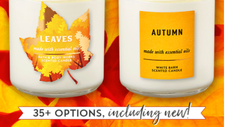 TODAY ONLY Bath & Body Works Single Wick Candles $5.95