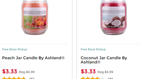 Michaels Candles on Sale for $3.33
