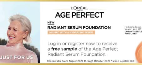 FREE L'Oreal Age Perfect Serum Foundation Sample