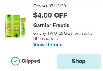 2 Garnier Shampoo or Conditioner for $1.98 at Walgreens