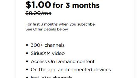 Amazon Echo Dot for $1 Plus 3 Months of Sirius XM