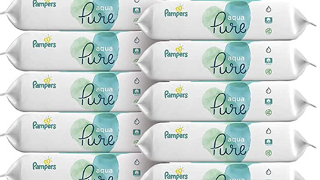 Pampers Wipes - 12 Pack $15.36 ($1.28 each)