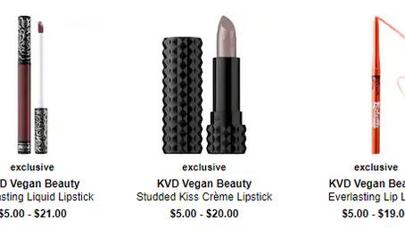 Kat Von D Makeup Sale Starting at $5