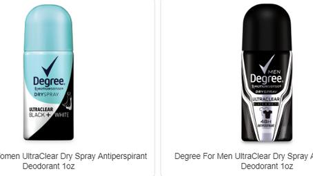FREE Degree Deodorant Sample