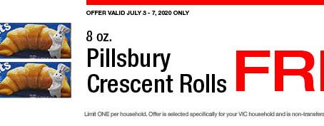 Harris Teeter Freebie - Pillsbury Crescent Rolls