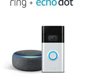 Amazon Echo Dot + Ring Doorbell Bundle $69.99