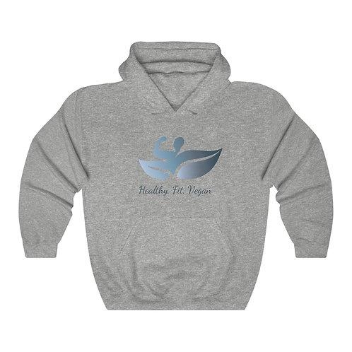 Unisex Heathy, Fit, Vegan Hooded Sweatshirt