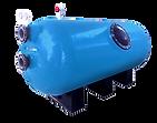 Filtro Horizontal Comercial Bobinado con fibra de vidrio.Disponible desde Ø1050 a 2500mm con opcionales