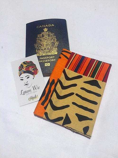 Golden Patchwork Passport Cover
