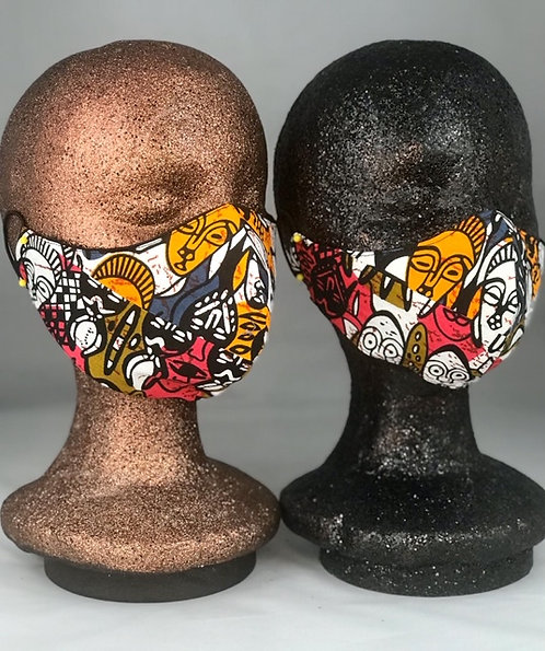 Watchful Ancestors Patchwork - Mask Only