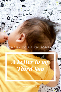 """a letter to my third son: """"i'm sorry that 90% of your belongings are hand-me-downs"""" 