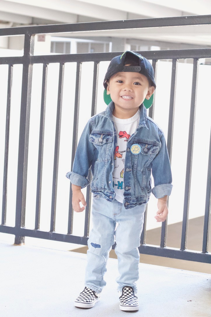 outfit ideas for toddler boys: trend to try - denim on denim // sunnyinjune.com