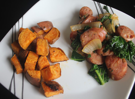 Chicken Apple Sausage, Greens, & Sweet Potato