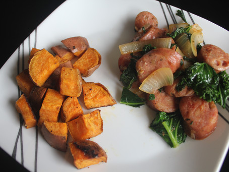 Chicken Apple Sausage, Greens, & Sweet Potato