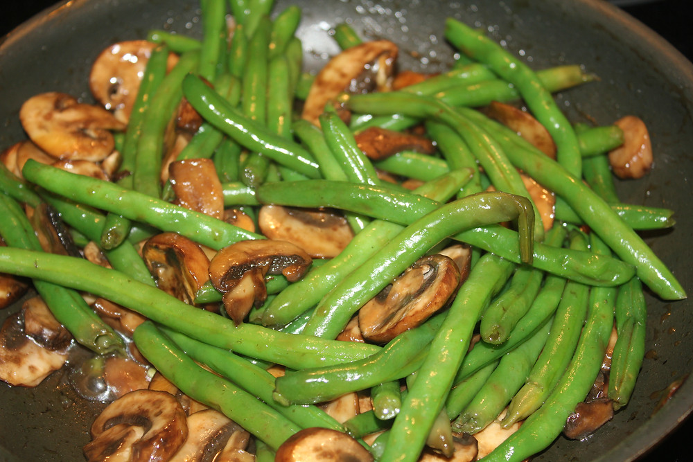 Sunny in June - Asian Mushrooms and Green Beans
