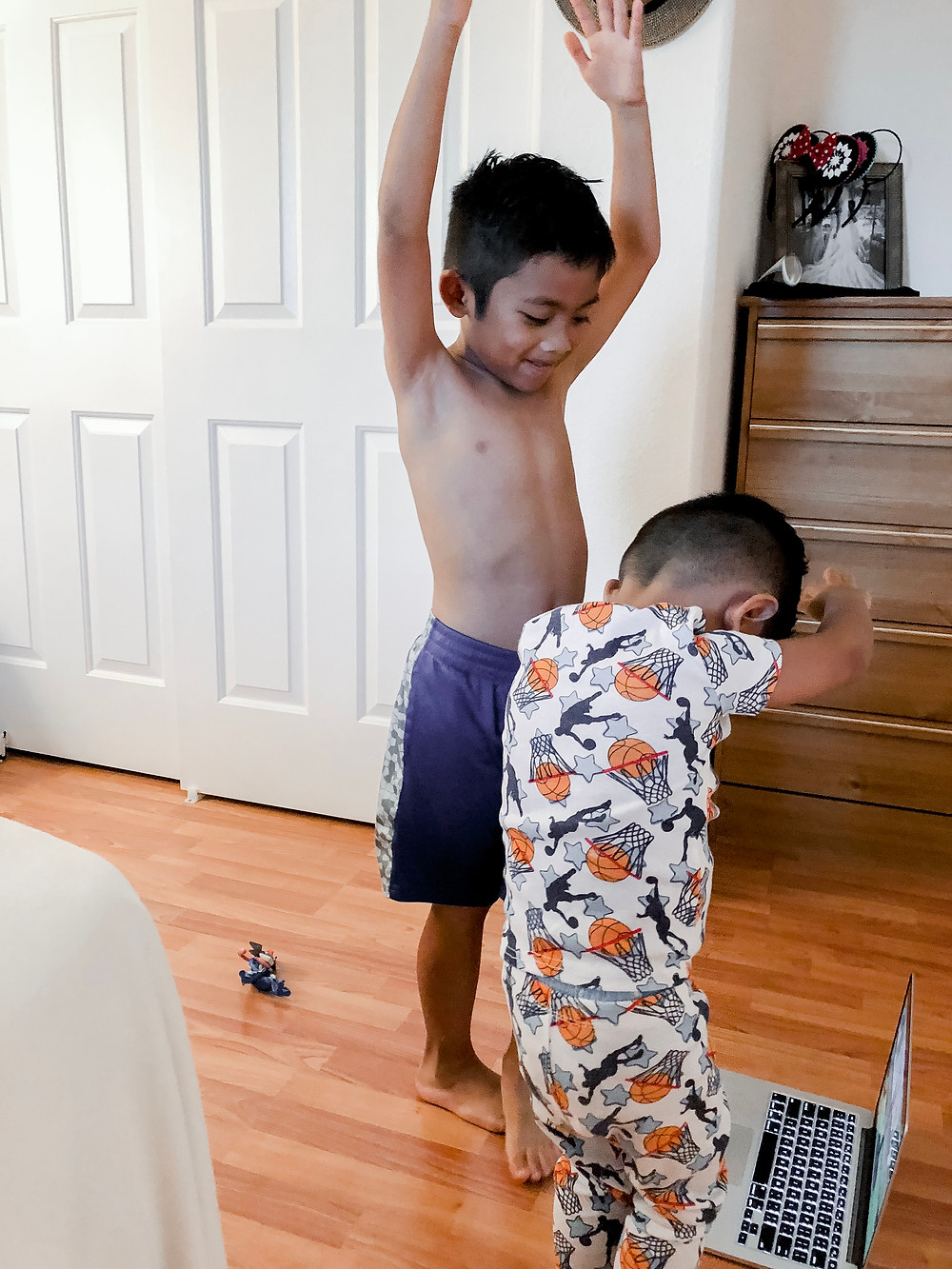 kids doing yoga before bed - how to help your child deal with their anxiety // sunnyinjune.com