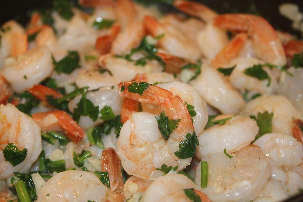 Sunny in June - Cilantro Garlic Shrimp