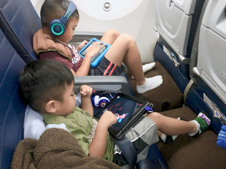Travel Tip: how to survive long flights with kids