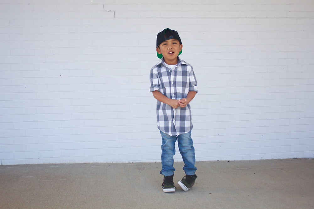 Street Style - Rowen Christian Jeans, buffalo check button up, high tops