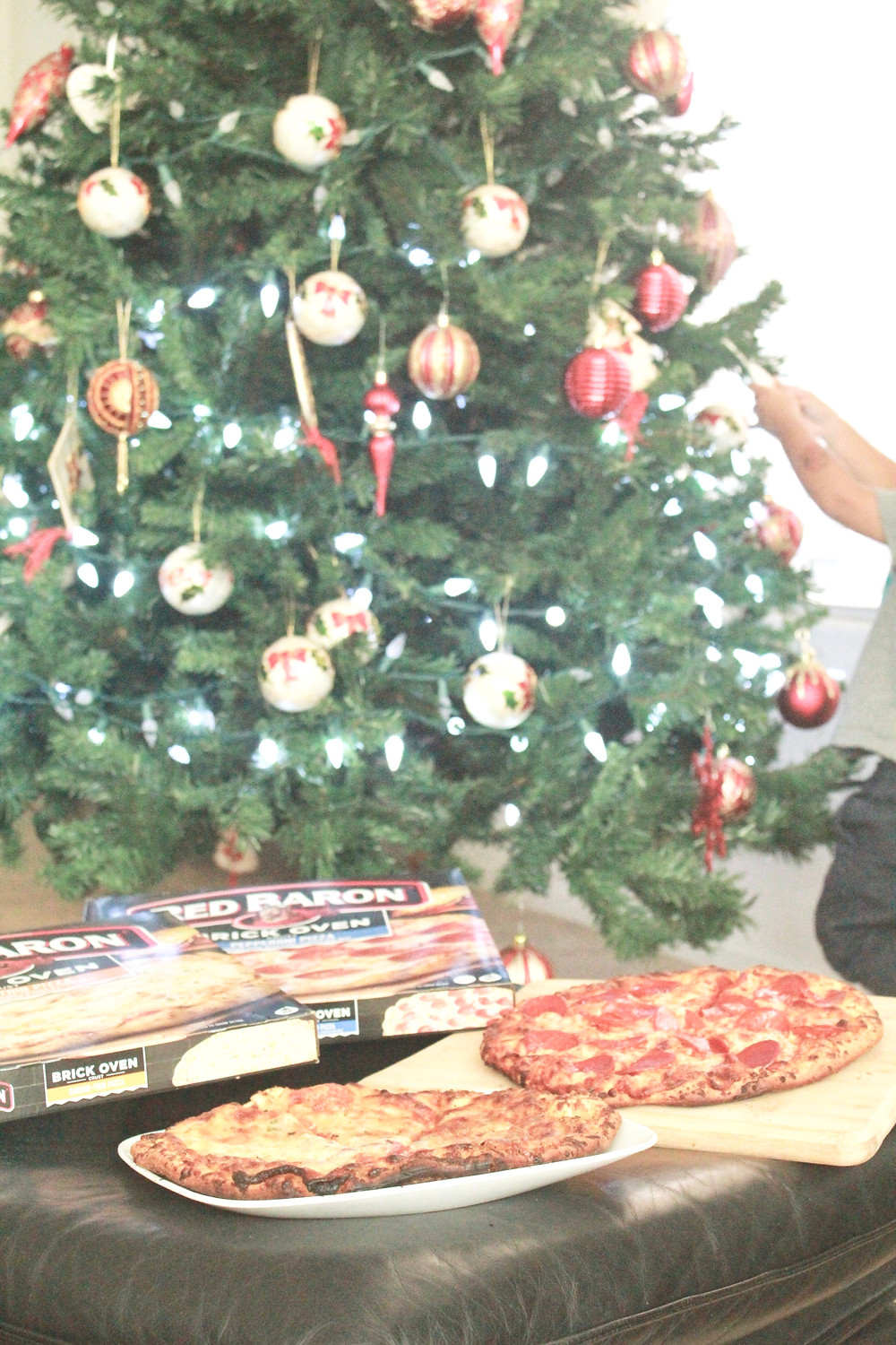 calm the holiday chaos - 5 tips for your family this holiday season // sunnyinjune.com with Red Baron Pizza