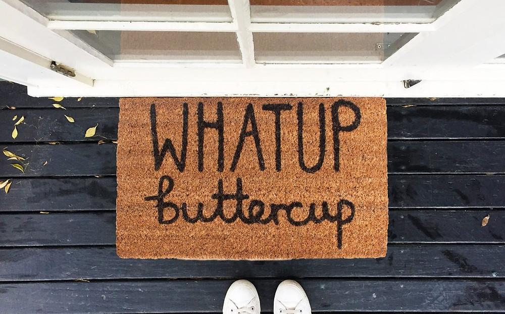 Don't Be a Doormat - biodegradable hand drawn door mats