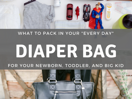 what to pack in your every day diaper bag