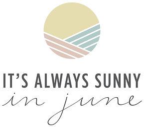 It Always SUnny in June Primary Logo, lifestye blog logo