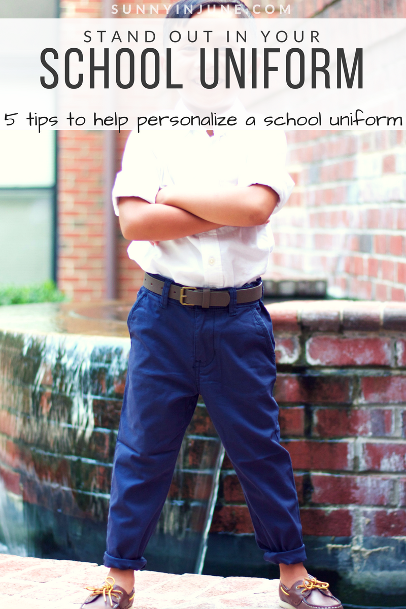 back to school style: 5 tips to help personalize a school uniform | sunnyinjune.com